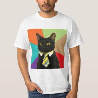 Animal Meme del consejo del gato del negocio Playera