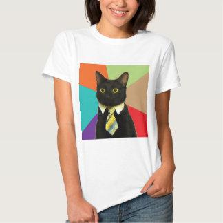 Animal Meme del consejo del gato del negocio Playeras