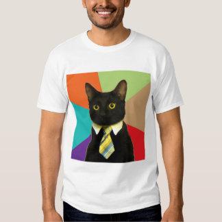 Animal Meme del consejo del gato del negocio Polera