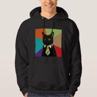Animal Meme del consejo del gato del negocio Sudaderas Con Capucha