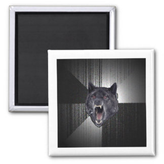 Animal Meme del consejo del lobo de la locura Imán Para Frigorifico