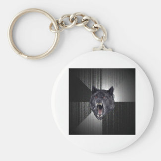 Animal Meme del consejo del lobo de la locura Llaveros Personalizados