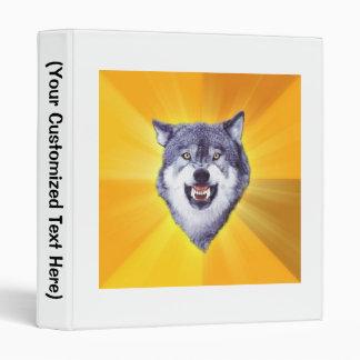 """Animal Meme del consejo del lobo del valor Carpeta 1"""""""