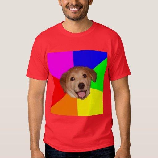 Animal Meme del consejo del perro del consejo Polera