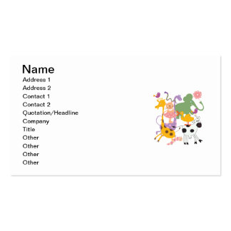 Animal Menagerie Business Card Templates