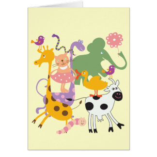 Animal Menagerie Greeting Cards