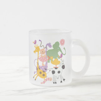 Animal Menagerie 10 Oz Frosted Glass Coffee Mug