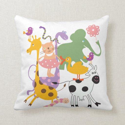 Animal Menagerie Pilllow Throw Pillows Zazzle