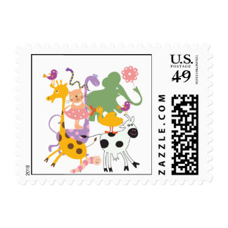 Animal Menagerie Stamps