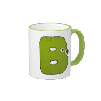 animal monogram - B Ringer Mug