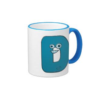 animal monogram - D Ringer Mug