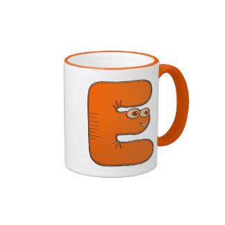 animal monogram - E Ringer Mug