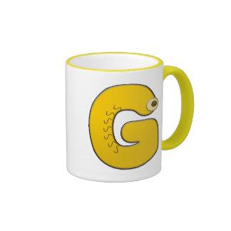 animal monogram - G Ringer Mug
