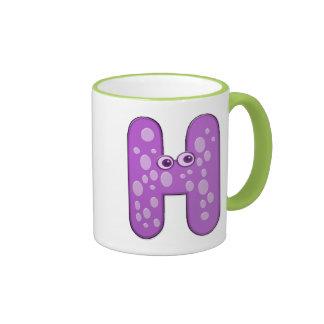 animal monogram - H Ringer Mug