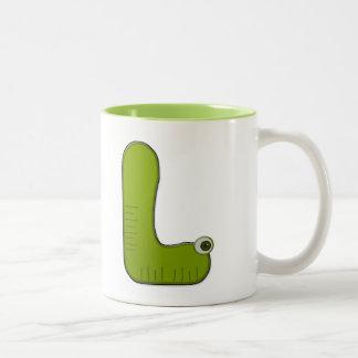 animal monogram - L Two-Tone Coffee Mug