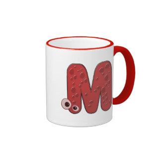 animal monogram - M Ringer Mug