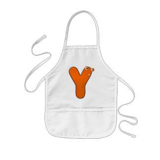 animal monogram - Y Kids' Apron