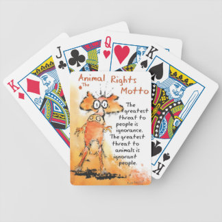 Animal Motto Bicycle Playing Cards