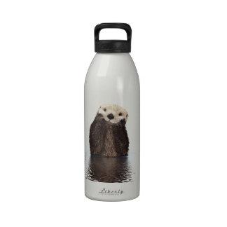 Animal mullido adorable lindo de la nutria botellas de agua reutilizables