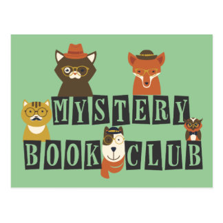 Animal Mystery Book Club Postcard