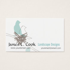 Animal Nature Wildlife Birds Drawing Event Planner Business Card at Zazzle