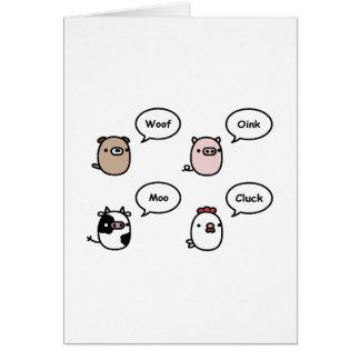 Animal Noises Card