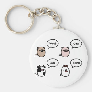 Animal Noises Keychain