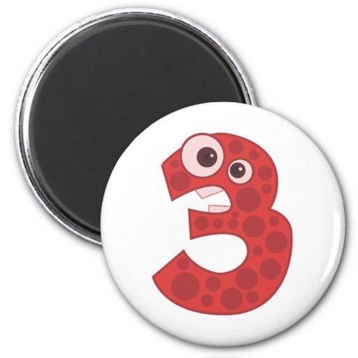 Animal number 3 magnets