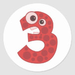 Animal number 3 stickers