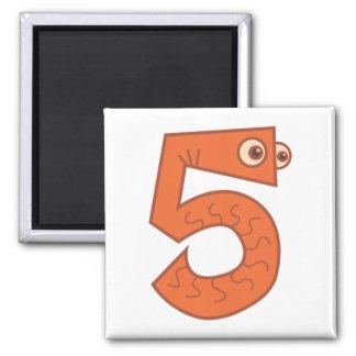 Animal number 5 magnet