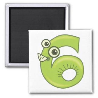 Animal number 6 magnet