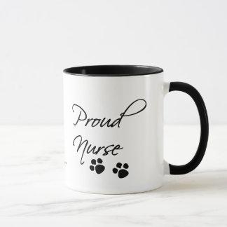 Animal Nurse Pride-with paw prints. Mug