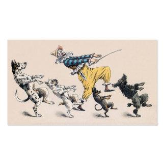Animal o adiestrador de perros, payaso, profesor tarjetas de visita