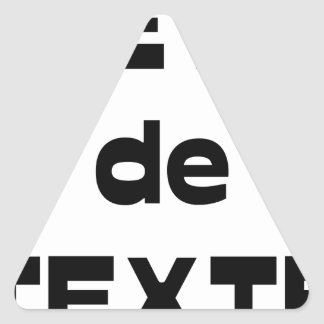Animal of Text - Word games - François City Triangle Sticker