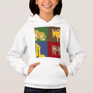 Animal on zigzag chevron collage. hoodie