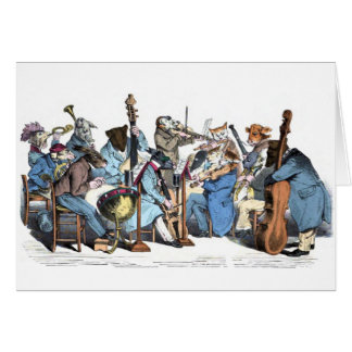 Animal Orchestra Greeting Card
