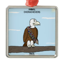 Animal Overachievers Metal Ornament