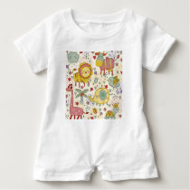 animal paint baby romper