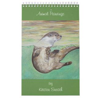 Animal paintings by Kirsten Sneath Calendar