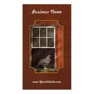 Animal - pájaro - pollo en una ventana plantillas de tarjetas personales