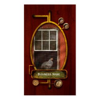 Animal - pájaro - pollo en una ventana tarjetas de visita