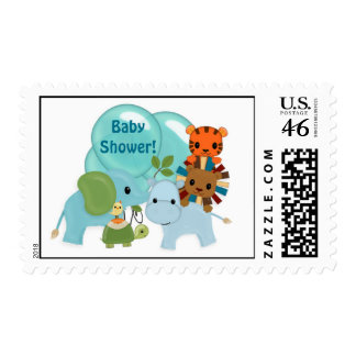 Animal Parade Baby Shower APK elephant hippo lion Postage Stamps