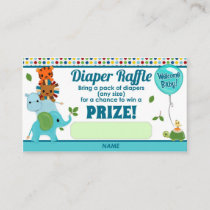 Animal Parade Baby Shower DIAPER RAFFLE TICKETS Enclosure Card