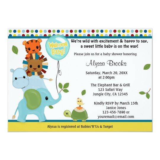 Animal Parade Baby Shower Invitation APK #2