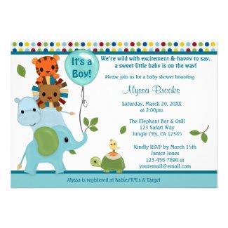 Animal Parade Baby Shower Invitation elephant APK