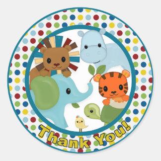 Animal Parade Baby Shower sticker APK#8 Thank You