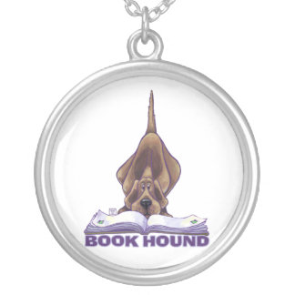 Animal Parade Book Hound Round Pendant Necklace