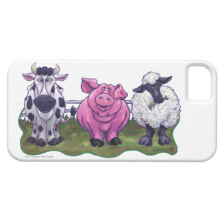 Animal Parade Cow, Pig, Sheep iPhone5 iPhone SE/5/5s Case