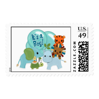 "Animal Parade ""It's a Boy!"" elephant lion tiger AP Postage"