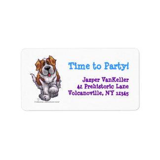 Animal Parade St. Bernard Dog Party Address Labels